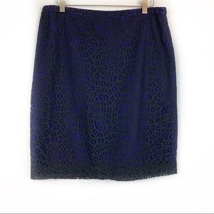 Banana Republic Factory Black Lace Pencil Skirt 12
